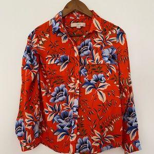 The loft petites floral shirt